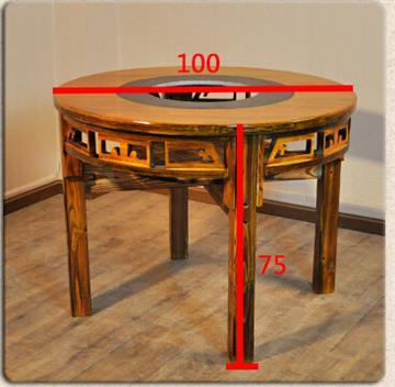 火锅桌子按形状有条形,方形和圆形之分,按人数有2人,4人,6人,8